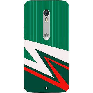 Casotec Lighting Pattern Print Design Hard Back Case Cover for Motorola Moto X Play
