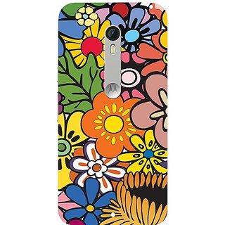 Casotec Vintage Floral Pattern Print Design Hard Back Case Cover for Motorola Moto X Style