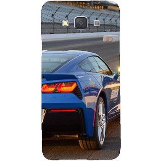Casotec Car on Racing Track Design Hard Back Case Cover for Samsung Galaxy A7