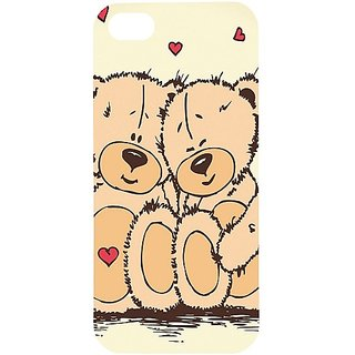 Casotec Teddy Bear Love Design Hard Back Case Cover for Apple iPhone 5 / 5S