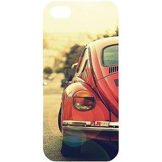 Casotec Vintage Car Pattern Design Hard Back Case Cover for Apple iPhone 5 / 5S