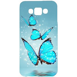 Casotec Flying Butterflies Design Hard Back Case Cover for Samsung Galaxy E7