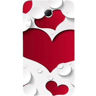 Casotec Multiple Hearts Design Hard Back Case Cover For Lenovo S880