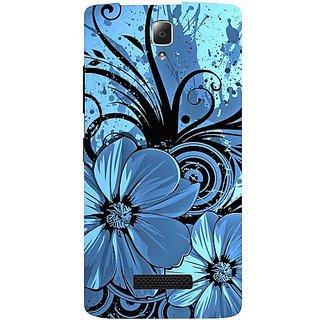 Casotec Cute Floral Blue Pattern Print Design Hard Back Case Cover for Lenovo A2010