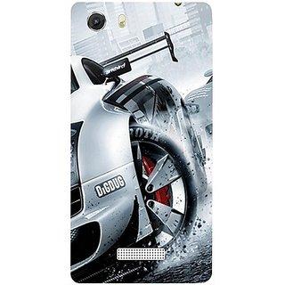 Casotec Drift Sport Print Design Hard Back Case Cover for Micromax Canvas Unite 3 Q372