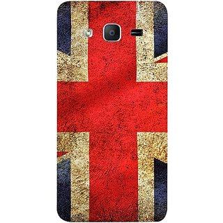 Casotec UK Flag Design Hard Back Case Cover for Samsung Galaxy On5