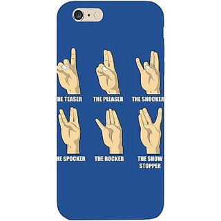 Casotec Funny Finger Design Hard Back Case Cover for Apple iPhone 6 Plus / 6S Plus