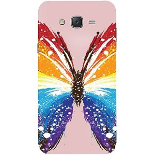 Casotec Butterfly Abstract Colorful Pattern Design Hard Back Case Cover for Samsung Galaxy J7