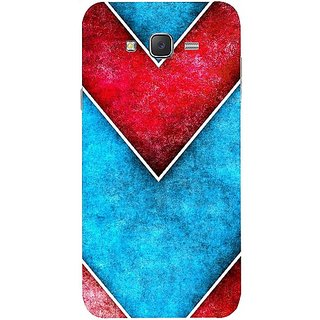 Casotec Line Obliquely Background Design Hard Back Case Cover for Samsung Galaxy J5