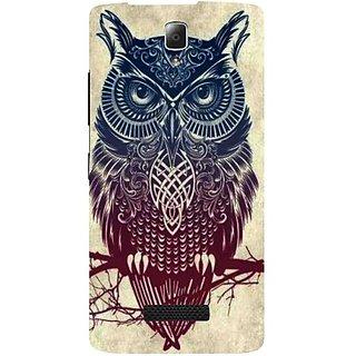 Casotec Owl Pattern Print Design Hard Back Case Cover for Lenovo A2010