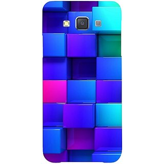 Casotec Blocks Rainbow 3D Graphics Design Hard Back Case Cover for Samsung Galaxy A5