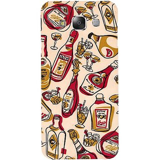 Casotec Wine Whiskey Pattern Print Design Hard Back Case Cover for Samsung Galaxy E5