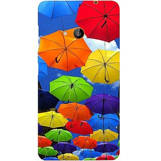 Casotec Colorful Umbrellas Design Hard Back Case Cover for Microsoft Lumia 535