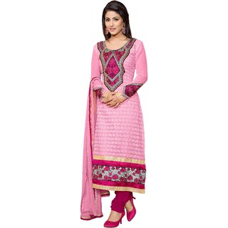 Krizel Glamour Women's  Georgette unstitched Anarkali Salwar Suit dress material
