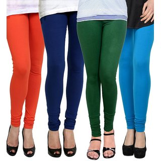 Rummy Cotton Lycra Leggings (Pack of 4) CL4MULTI0001