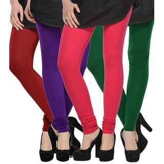Rummy Cotton Lycra Leggings (Pack of 4) CL4MULTI0048