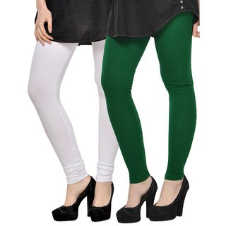 Rummy Cotton Lycra Leggings (Pack of 2) CL2MULTI0426