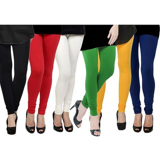 Rummy Cotton Lycra Leggings (Pack of 6) CL6MULTI0629