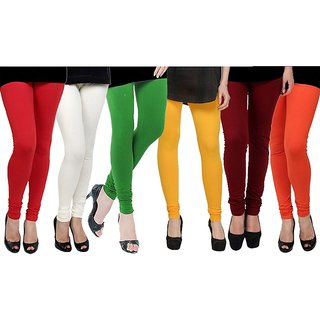 Rummy Cotton Lycra Leggings (Pack of 6) CL6MULTI0616