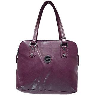 Moochies Ladies Leatherette Purse Colour Dark Purple