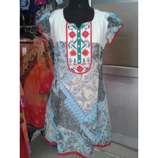 Ethnic Fashion Wear Embroiderd Viscose Georgette chiffon designer Kurtis Tunics