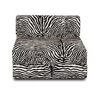 Dolphin Single Zeal Sofa-Zebra