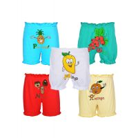 Gkidz Pack Of 5 Fruit And Veggies Theme Bloomers (5PCK-BLOMR-FRTS-CMB-4)