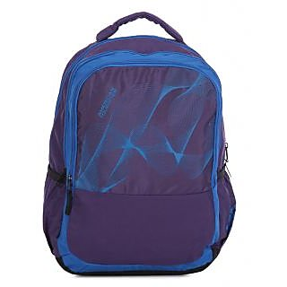 American Tourister Purple Casual Polyester Backpack