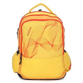 American Tourister Yellow Casual Polyester Backpack