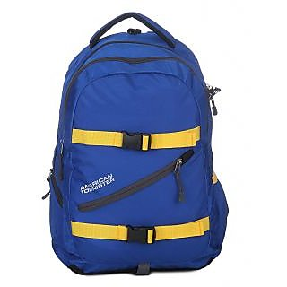 American Tourister Blue Casual Polyester Backpack