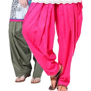 Brandtrendz Set Of 2 Cotton Patiyala Salwar (SsalwarGreyOrange)