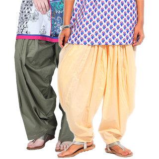 Brandtrendz Set Of 2 Cotton Patiyala Salwar (SsalwarGreyLemon)