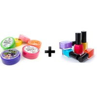 Set of 5 Nail Polish  nail polish remover(Tissue- Assorted colors)