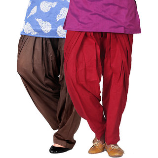 Brandtrendz Set Of 2 Cotton Patiyala Salwar (SsalwarChocoMrn)