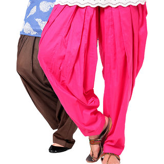 Brandtrendz Set Of 2 Cotton Patiyala Salwar (SsalwarChocoRani)