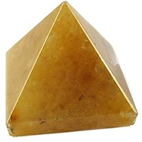 YELLOW AVENTURINE PYRAMID FOR STABILITY, CREATIVITY FENG SHUI VAASTU