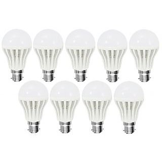 LED BULB 7W BRIGHT WHITE LIGHT LED BULB SAVING ENERGY 1 SET OF 9 PCS.