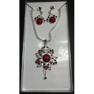 Styles Silver Pendant Set From Engage For Partywear