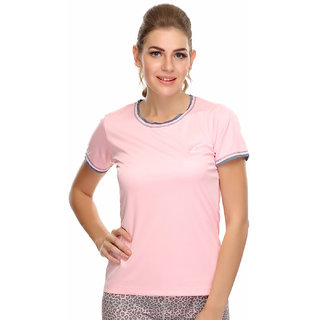 Clovia Light Weight Stretchy Dri-Fit Sports T-Shirt