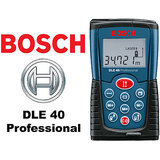 BOSCH DLE40 Professional Laser Distance Meter Measure Range Finder M.R.P. Rs. 12000/- With BOSCH Warranty.