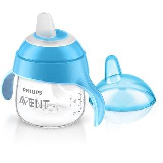 Avent Premium Spout Cup Blue 6M (200Ml / 7Oz)