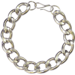 Men Style Silver  Stainless steel  link  Bracelet  for men and boys available at ShopClues for Rs.199
