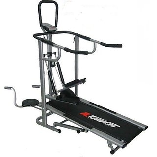 KAMACHI HEAVY WEIGHT LATEST MANUAL TREADMILL 4 IN 1 available at ShopClues for Rs.11475