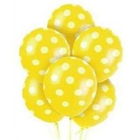 Homeshopeez Printed Balloon(Yellow, Pack of 30)