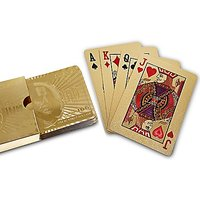 Pooja Creation 24K Gold Foil Playing Cards Poker with 2 Jokers--100  Satisfaction Guarantee