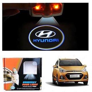 Car Door Logo Ghost Shadow Welcome Light For Hyundai Grand i10