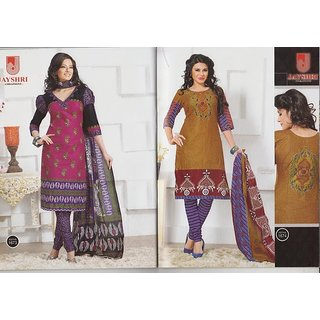 Combo Pack - ATH Cotton Printed Dress Materials