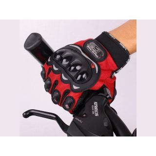 Probiker Full Finger Gloves Red
