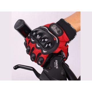 Probiker Full Finger Gloves Red