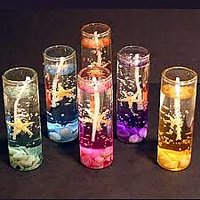 Designer Glass Gel Candles ( Set Of 3 Candles)
